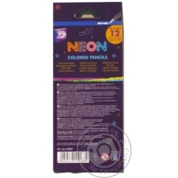 Олівці Cool For School Neon кольорові 12 шт. - купити, ціни на Метро - фото 2