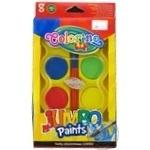 Краски Colorino Jumbo акварельные 8 цветов