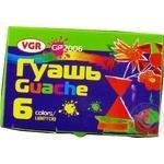 Краски VGR гуашевые в баночках 6шт*20мл