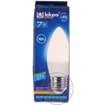 Лампа LED Lamp Іскра C37 220В 7Вт 3000K E27 - купить, цены на Novus - фото 1