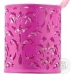 Підставка Buromax Barocco для ручок рожева 8.3x10см