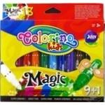 Фломастеры Colorino магические 10 цветов