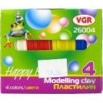 Пластилин VGR 4 цвета