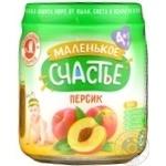 Puree Malenkoye schastye peach for children 90g