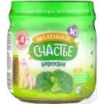 Puree Malenkoye schastye broccoli for children 80g