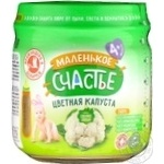Puree Malenkoye schastye with cauliflower for children 80g