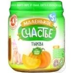Puree Malenkoye schastye pumpkin for children 90g