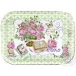 Metal Tray with Flowers