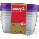 Keeeper Fredo Fresh 0672 For Microwave Rectangular Food Container 5pcs 500ml