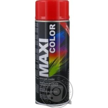 Эмаль аэрозольная Maxi Color универсальная декоративная красная 400мл