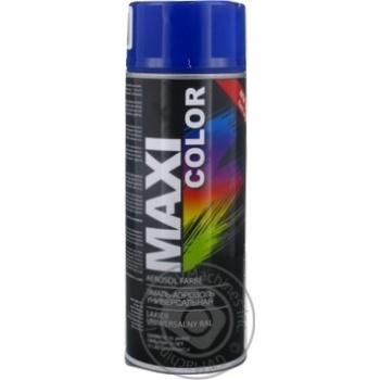 Эмаль аэрозольная Maxi Color универсальная декоративная синяя 400мл - купить, цены на Таврия В - фото 1