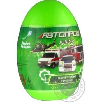 Машинка металлическая Автопром в пластиковом яйце 5*9см - купить, цены на Novus - фото 1