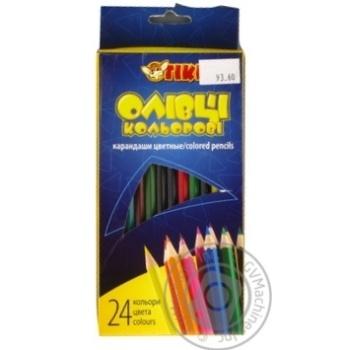 Олівці Tiki кольорові 24шт Art.51606-ТК х6