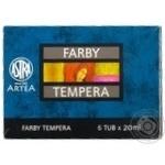 Astra Tempera Paints 6 Colors 20ml