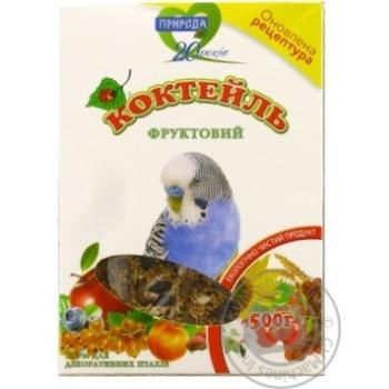 Корм Природа Коктейль Фруктовый для декоративных птиц 500г - купить, цены на СитиМаркет - фото 1