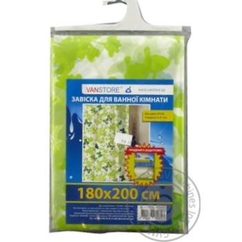 Завіска leaves green Vanstore 180*200см 61003 - купити, ціни на Novus - фото 1