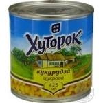 Vegetables corn Khutorok canned 425g can