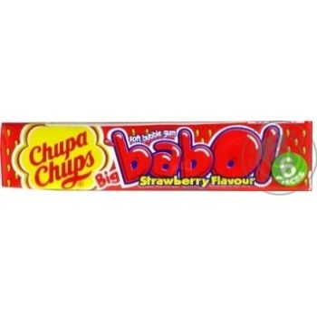 Chupa Chups Big Babol strawberry flavor chewing gum 27,6g - buy, prices for Tavria V - image 1