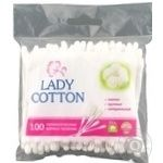 Lady Cotton cotton swabs in a plastic bag 100pcs