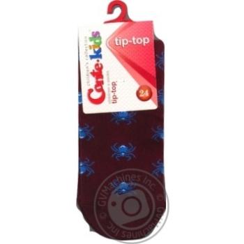 Шкарпетки дитячі CK TIP-TOP 5С-11СП, р.24, 409 бордо