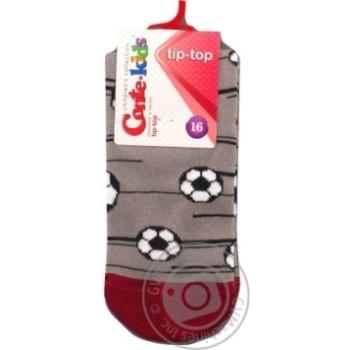 Шкарпетки дитячі CK TIP-TOP 5С-11СП, р.16, 396 сірий - купити, ціни на Novus - фото 1