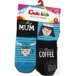 Шкарпетки дитячі Conte Kids веселі ніжки 17С-10СП, розмір 16, 337 бірюза