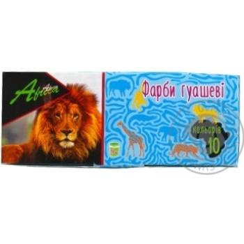 Фарба гуашева Economix Africa 10 кольорів по 20мл E60123 - купить, цены на Novus - фото 1