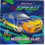 Пластилин YES 12 кол. Speed car