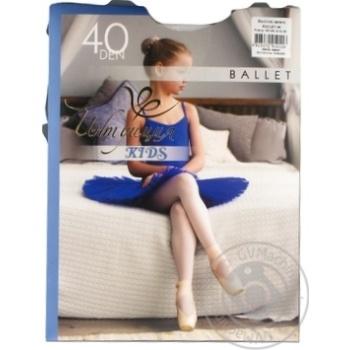 Колготки Интуиция Ballet детские белые 140-146р
