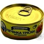 Печень трески Аквамарин Натуральная 100г