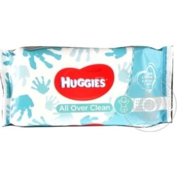 Серветки вологі Huggies Everyday 56шт - купити, ціни на Novus - фото 1
