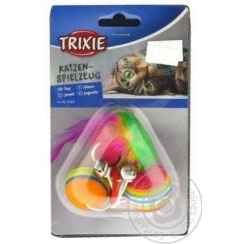 Іграшка Trixie для котів М`ячики 3шт 4133 х4 - купити, ціни на МегаМаркет - фото 1