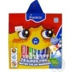 Фломастеры Marco Super Washable 24 цвета