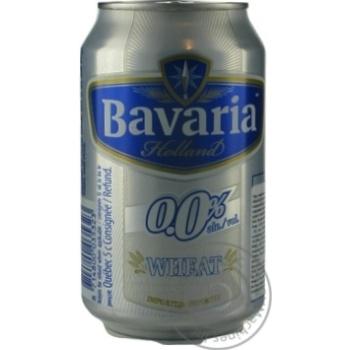 Пиво світле безалкогольне Bavaria 0,5% 0,33л з/б