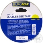 Клейка стрічка Buromax двостороння 12ммХ10м