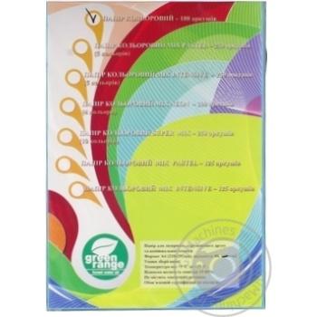Кольоровий папір Green Orange А4 блакитний 100 аркушів - купити, ціни на Метро - фото 1