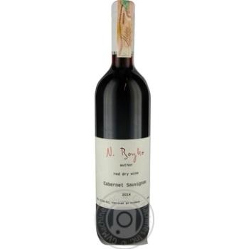 Вино N.Boyko Cabernet Sauvignon красное сухое 12,5% 0,75л - купить, цены на МегаМаркет - фото 1