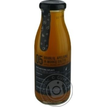Сік яблучно-апельсиновий-моркв'яний з м'якоттю Vaisiu sultys 0,25л с/п