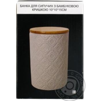 Банка для сипучих з бамбуковою кришкою арт.940-214