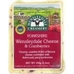 Сир Wensleydale Creamery Yorkshire з журавлиною 43-48% 150г