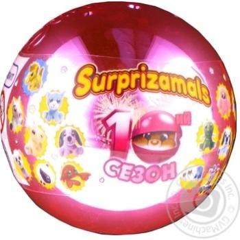 Игрушка-сюрприз мягкая Surprizamals в шаре - купить, цены на Novus - фото 1