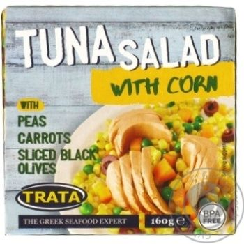 Салат з кукурудзою і тунцем Trata 160г