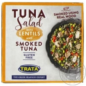 Салат з сочевицею і копченим тунцем Trata 160г