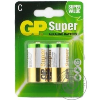 Батарейки GP Super Alkaline 1.5V C 2шт - купить, цены на Метро - фото 1