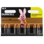 Battery Duracell aa 8pcs 200g