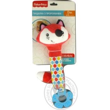 Іграшка пискавка з прорізувачем арт. GH73092 Лисеня Fisher Price