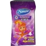 Серветки вологі Smile Фіксики антибактеріальні (3 дизайни) з єврослотом15шт