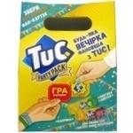 Крекер Tuc Party Pack Сметана i Цибуля + Паприка 2*100г 200г