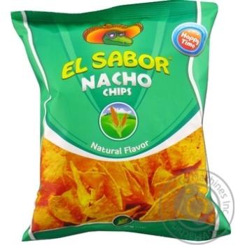 Чипсы El Sabor Начос натуральный вкус 100г