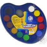 Фарби Astra акварельні 12 кольорів 30мм